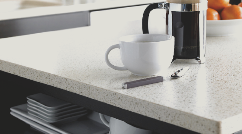 Solid Surface or Corian countertops are madman countertops that allow for more customization in style and color options and are nearly seamless.